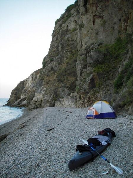 Santa Catalina Island Camping, don't forget the kayak