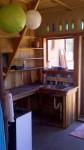 kitchen inside natural building