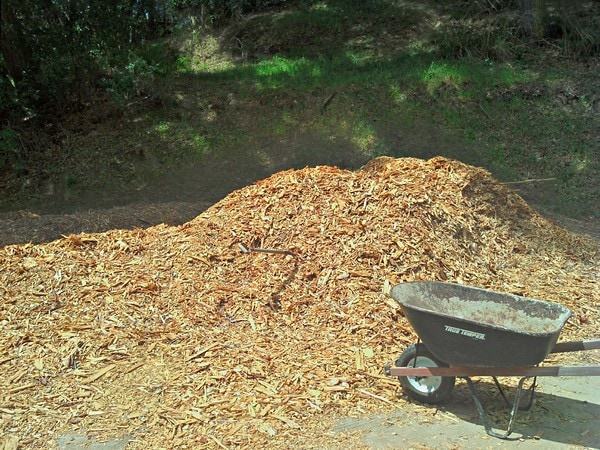 The Greenman Project - Mulch for the garden beds